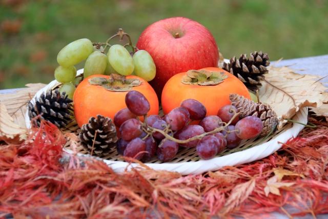 秋の糖質たっぷり果物に注意